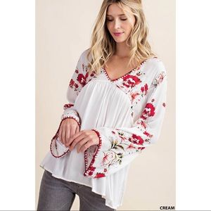 Alberta - Flower Mix Rayon Gauze Top